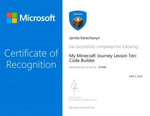 My Minecraft Journey Lesson Ten_ Code Builder-1
